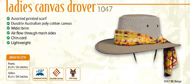The Ladies Canvas Drover Hat
