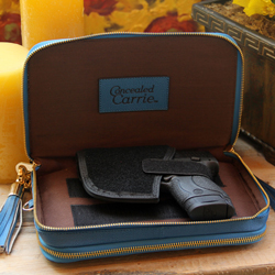 Leather Compact Carrie - Cool Blue